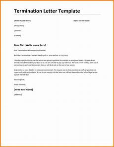 Employment Termination Letter Template Free 6 General Termination Letter Sales Slip Template
