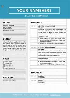 Ms Word Resume Templates Free Jordaan Editable Clean Resume Template For Ms Word