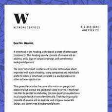 How To Write A Letter Head Free Online Letterhead Maker With Stunning Designs Canva