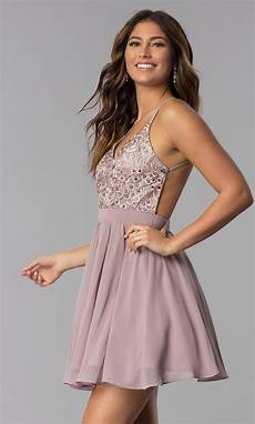 embroidered bodice homecoming dress promgirl