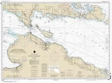 Great Straits Chart Straits Of Mackinac Chart 14880 Nautical Chart Scale 1