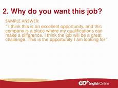 Why Do I Want The Job During The Interview Interview Questions Part 2