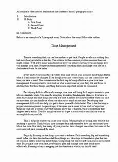 Simple 5 Paragraph Essay Examples Five Paragraph Essay Example