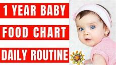 Diet Chart For Two Years Baby Food Chart And Daily Routine For 1 Year Baby Complete