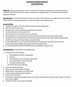 Cna Job Resumes Cna Resume Objective 6 Examples In Word Pdf