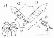 Malvorlagen Silvester Neujahr Silvesterraketen Frohes Neues Jahr Nadines Ausmalbilder