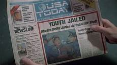 Parts Of A Newspaper Back To The Future Part Ii Newspaper S Oct 22 Headlines