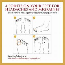 Reflexology Chart Headache Acupressure Points On Your Feet For Headaches And Migraines