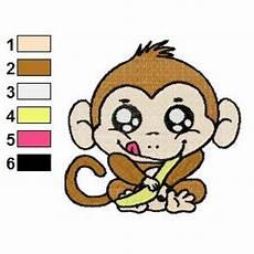 Monkey Design Free Monkey Baby Embroidery Design