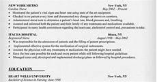 Cardiac Nurse Resume Cardiac Nurse Resume Sample Resumecompanion Com