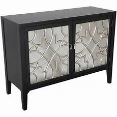 black mirrored accent cabinet ym797 bk ym797 bk