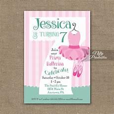 7th Birthday Invitation Card Printable 7th Birthday Invitation Ballet Tutu Invitation Nifty