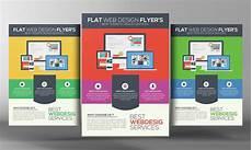 Design Flyer Online Flat Website Design Flyer Flyer Templates Creative Market