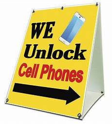 Cell Phone Store Signs We Unlock Cell Phones Sidewalk A Frame 18 Quot X24 Quot Outdoor