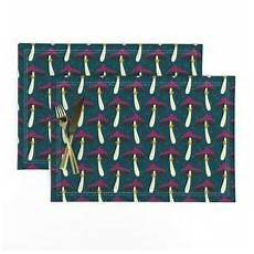 cloth placemats fall autumn magic blue set of 2