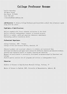 Professor Resume Examples Resume Samples College Professor Resume Sample