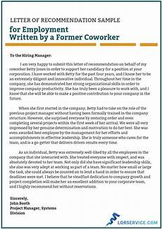 Letter Of Recommendation Sample Letters Letter Of Recommendation For Employment Writing Service