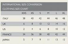 Clothing Size Conversion Chart The Daily Crackpot November 2016