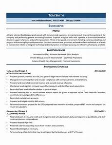 Bookeeper Resume Bookkeeper Resume Example Amp Template For 2020