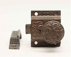 antique cast iron cabinet latch lock olde things