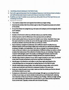 Apa Style Literature Review Literature Review Written In Apa Format Literature