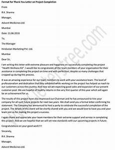 Thank You Letter After Service Completed Thank You Letter To Client For Successful Completion Of