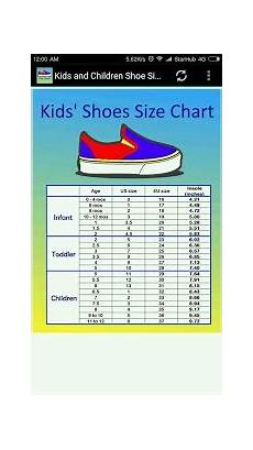 Blowfish Shoes Size Chart Children Shoe Size Chart Android Apps On Google Play
