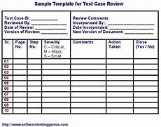 Software Test Case Template Test Case And Its Sample Template Software Testing Genius