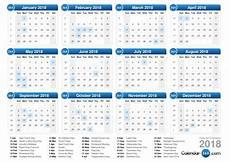 Week Calendar 2018 Calendar