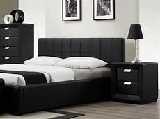 luxury black faux leather bed beautiful design