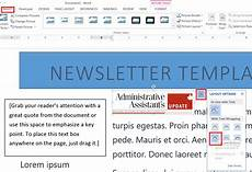 Create Microsoft Word Templates How To Easily Create A Newsletter Template In Microsoft