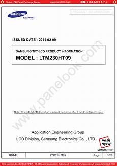 Samsung Tft Lcd Ltm220m1 L01 Service Manual Download