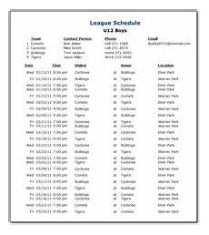 Free Basketball Schedule Maker League Scheduling Software Sports Scheduling Software
