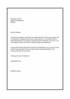 Cover Letter Job Applications Cover Letter Format For Job Application Pinteres