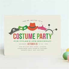 Costume Party Invites Costume Party Children S Birthday Party Invitation Minted