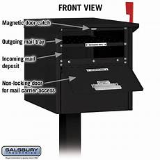 Business Mailbox Salsbury Industries 4325blk Roadside Mailbox Front And