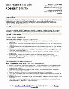 Retail Clerk Resume Retail Sales Clerk Resume Samples Qwikresume