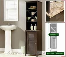 bathroom storage cabinet linen tower wood cupboard