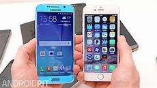 Samsung S6 Vs Iphone 6 Galaxy S6 Vs Iphone 6 Comparison Who Makes The Better