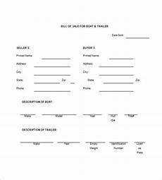 Sample Bill Of Sale For Trailer Trailer Bill Of Sale 9 Free Sample Example Format
