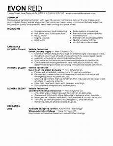 Automotive Technician Resume Automotive Technician Resume Examples Free To Try Today