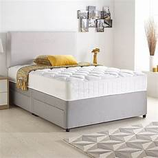 divan bed set with quilted ortho mattress headboard and 2
