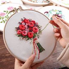 meian new sale quot bouquet flower quot embroidery with hoops cross