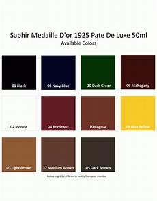 Saphir Shoe Cream Color Chart Saphir 1925 Pate De Luxe 50ml