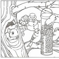 winter coloring pages learning printable