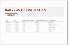 Daily Sales Record Book Daily Sales Log Template For Ms Excel Excel Templates