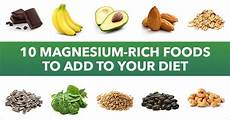 Magnesium In Foods Chart 10 Magnesium Rich Foods To Add To Your Diet Swanson