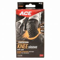 ace compression knee sleeve with pad sm to m walmart