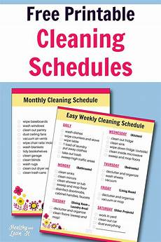 Daily Weekly Monthly Cleaning Free Printable Cleaning Schedule Daily Weekly And