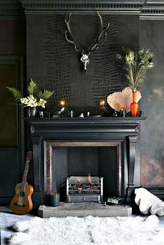 Back To Back Fireplace Design Textured Wallpaper For Your Interior Design 21 Pics